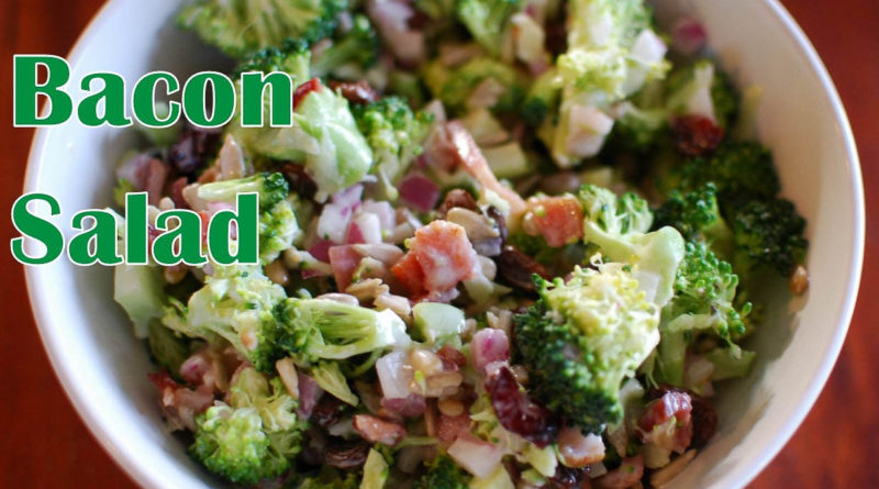 Broccoli Bacon Salad from fatkidatheart.com