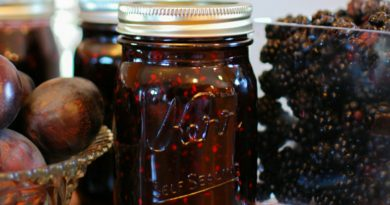 Plum Blackberry and Vanilla Jam