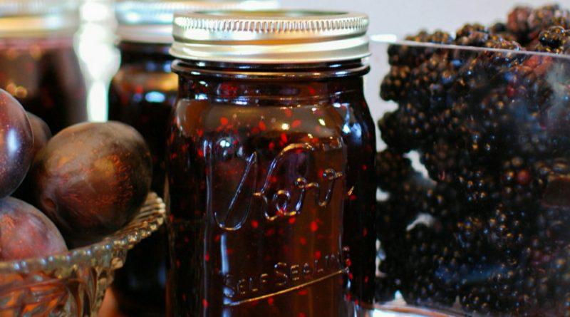 Plum Blackberry and Vanilla Jam