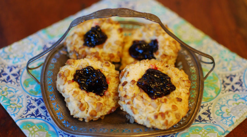 Grandma's Walnut Jam Thumbprint Cookies from Fat Kid at Heart Blog