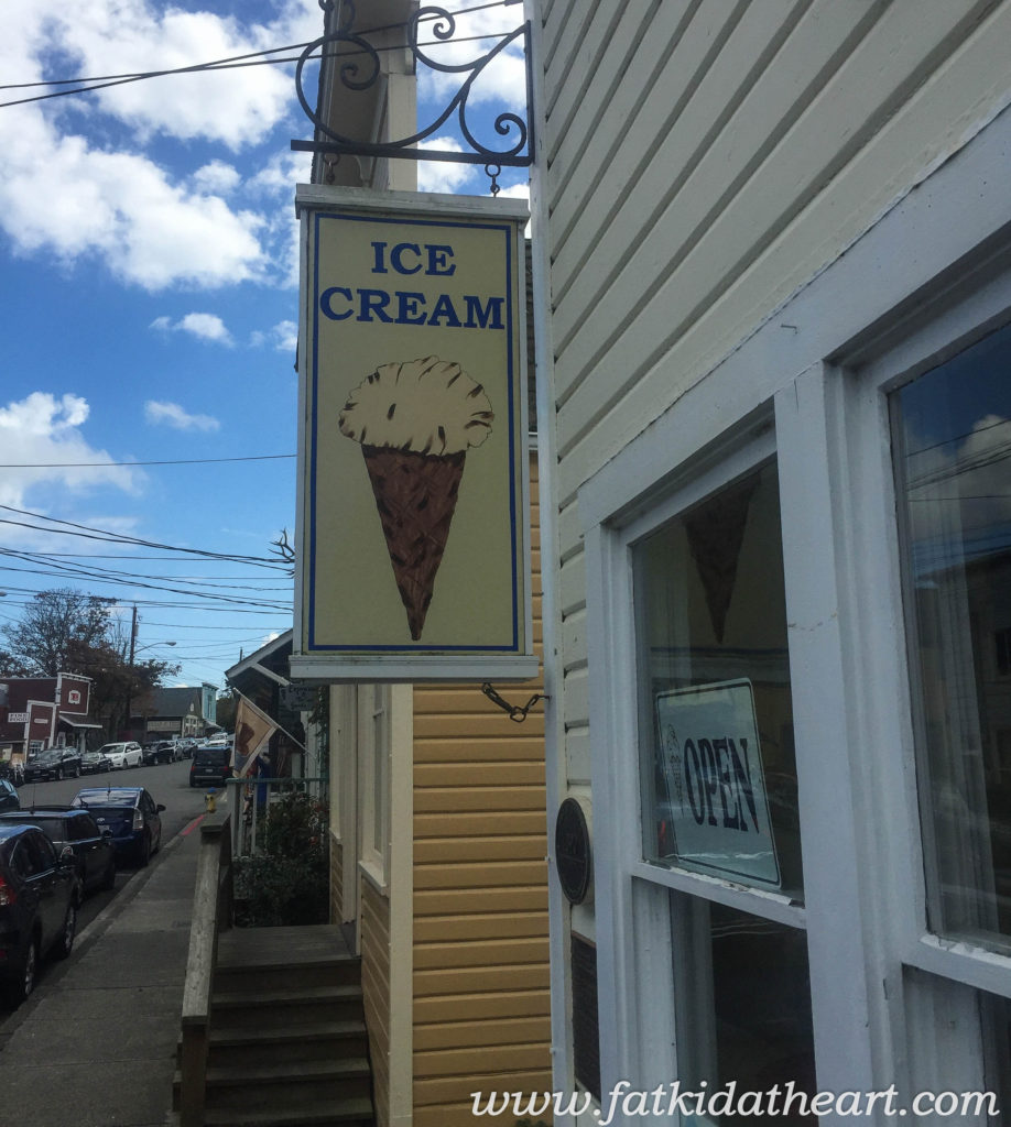 Kapaw's Iskreme in Coupeville Washington on Whidbey Island