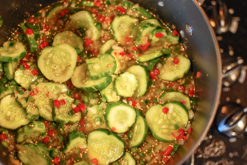 Bread and Butter Pickles from fatkidatheart.com-6