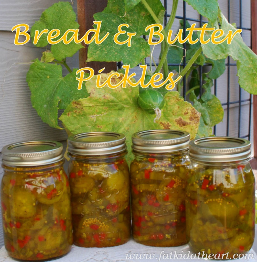 Bread and Butter Pickles from fatkidatheart.com-8